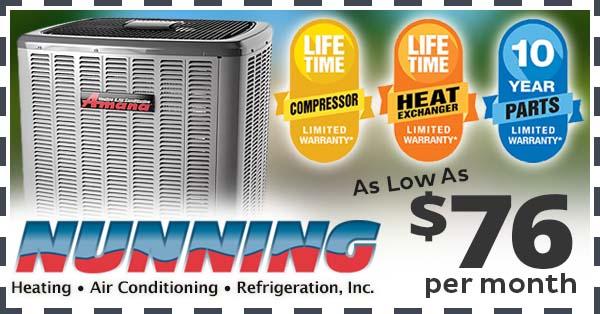 Amana HVAC System Special